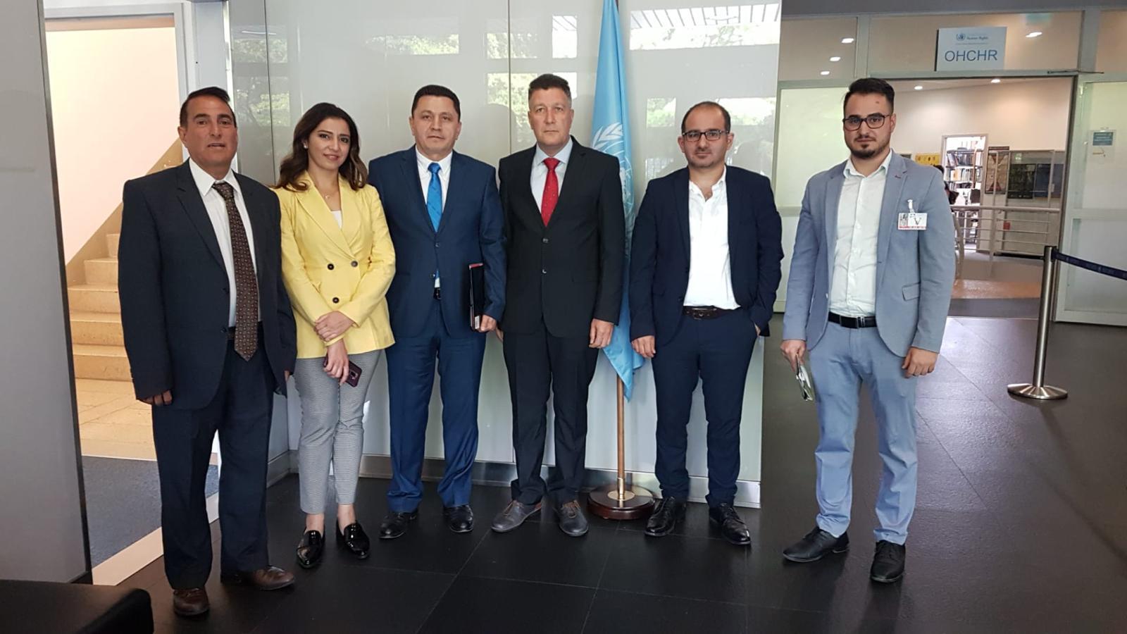 لجان مختصة تابعة للأمم المتحدة تتلق ملفات انتهاكات حقوق الانسان في عفرين ومخاطر تهديدات تركيا لشرق الفرات
