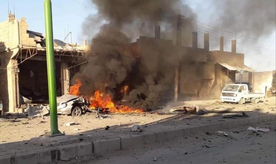 سقوط ضحايا في انفجار سيارة مفخخة في بلدة الطبقة شرق سوريا