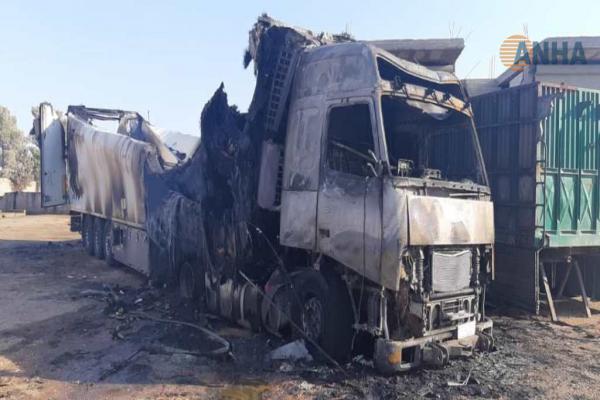 مقتل شخصين في حريق بشاحنة لنقل الخضار في منبج