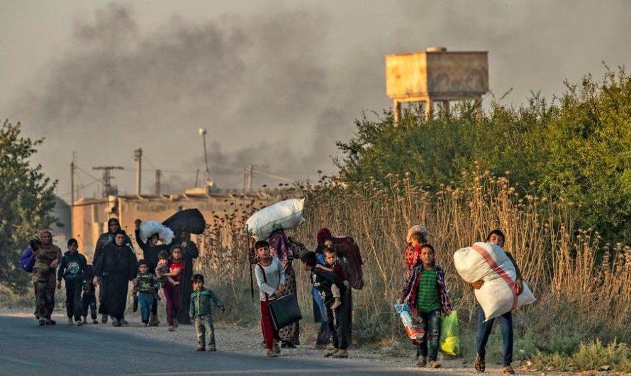 عناصر الجبهة الشامية يعتدون على نساء قرية شرقي تل أبيض