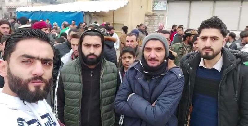 الغاء مظاهرة في مدينة الباب للتنديد بالهجوم على المعرة بعد اعتقال منظمها من قبل جهاز الشرطة الموالي لتركيا