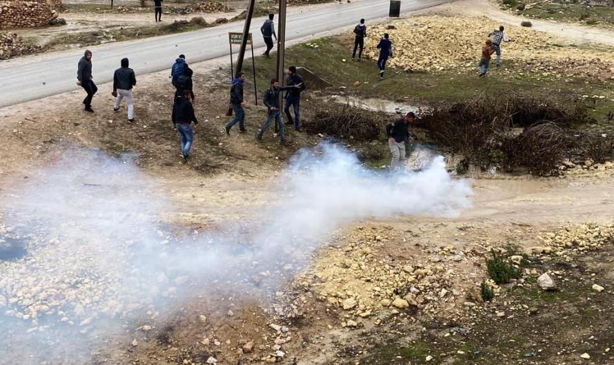 حالات اختناق في صفوف المحتجين غربي مدينة كوباني