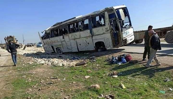 مقتل وإصابة 37 شخصًا في حادث مروري بريف منبج