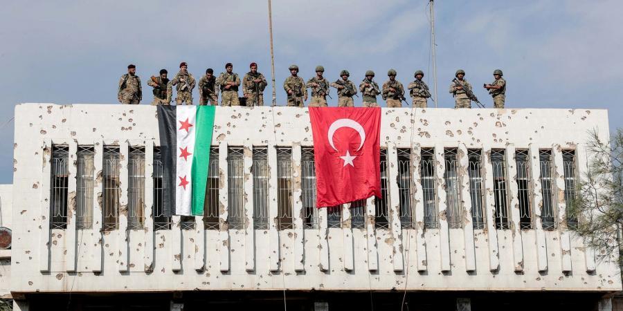 صورة للجيش التركي مع اعلان سيطرته على بلدة رأس العين 20 اكتوبر 2019