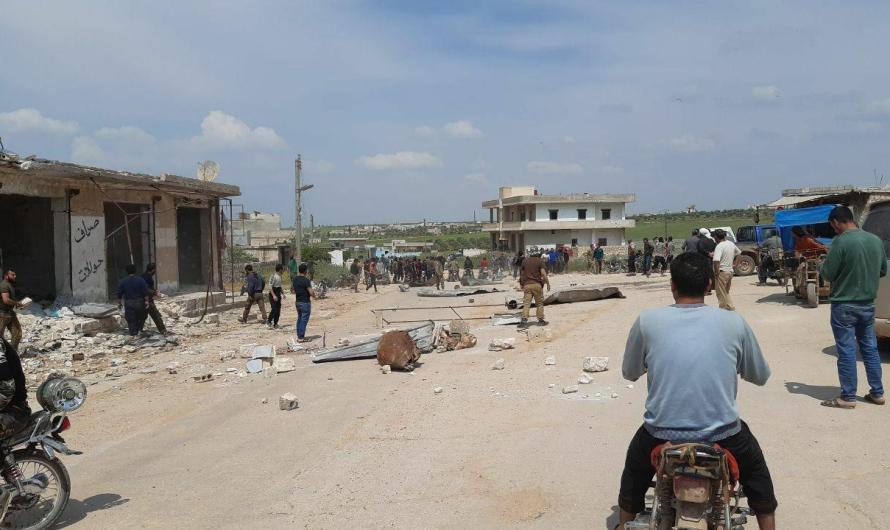 """جرحى مدنيون جراء إطلاق نار من قبل """"هيئة تحرير الشام"""" على متظاهرين بريف إدلب"""