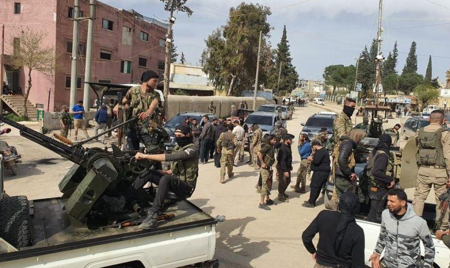 قتيل وإصابات باقتتال بين مسلحين مدعومين تركيا بريف حلب
