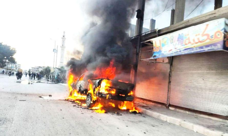 وسط تحليق طائراتها …القوات التركية تتدخل لوقف الاشتباكات العنيفة بين الفصائل الموالية لها بمدينتي جرابلس والباب
