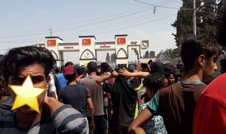 خروج مظاهرة في مدينة جرابلس تهتُف بسوء الوضع المعيشي والفساد