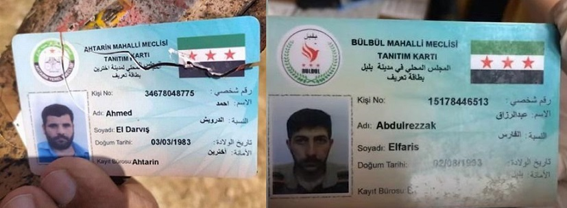 """قيادات داعش يتحركون بهويات صادرة من """"الحكومة السورية المؤقتة"""" في المناطق الخاضعة لتركيا شمال سوريا"""