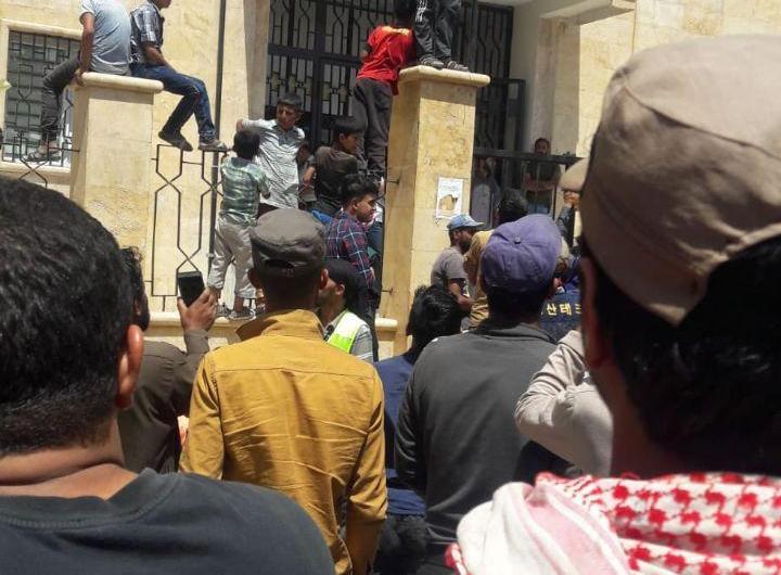 مظاهرة في بلدة خاضعة لسيطرة تركيا شمال سوريا تطالب باسقاط مجلسها المحلي