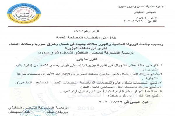 فرض حظر التجوال في اقليم الجزيرة مدة 10 أيام بعد ارتفاع إصابات كورونا