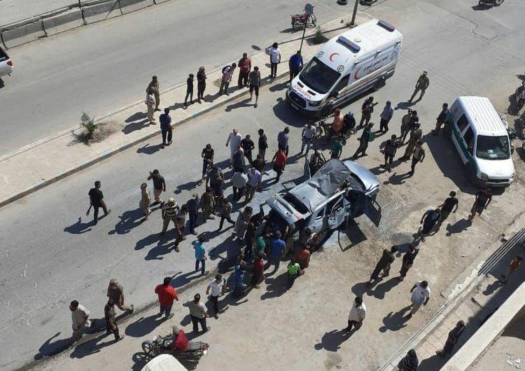 مقتل شخصين وعدة إصابات في انفجار لغم بسيارة بمدينة عفرين