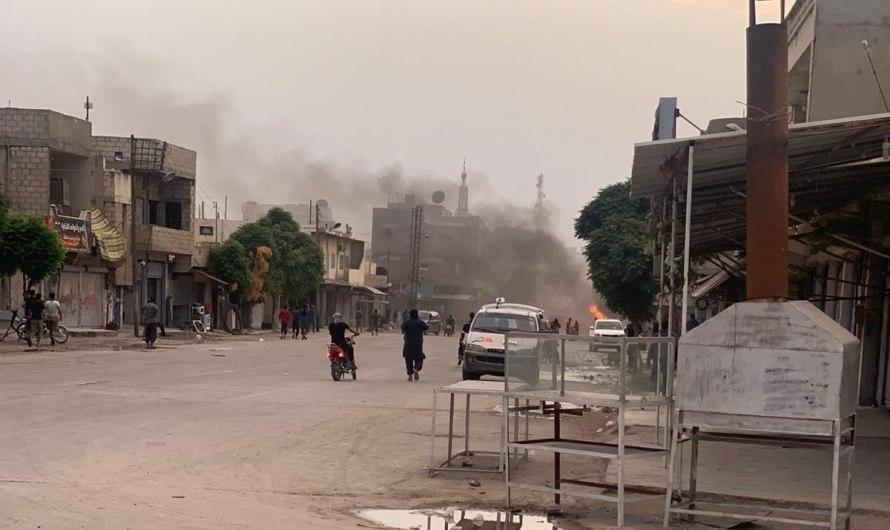 ضحايا نتيجة انفجار دراجة نارية ملغمة في بلدة رأس العين