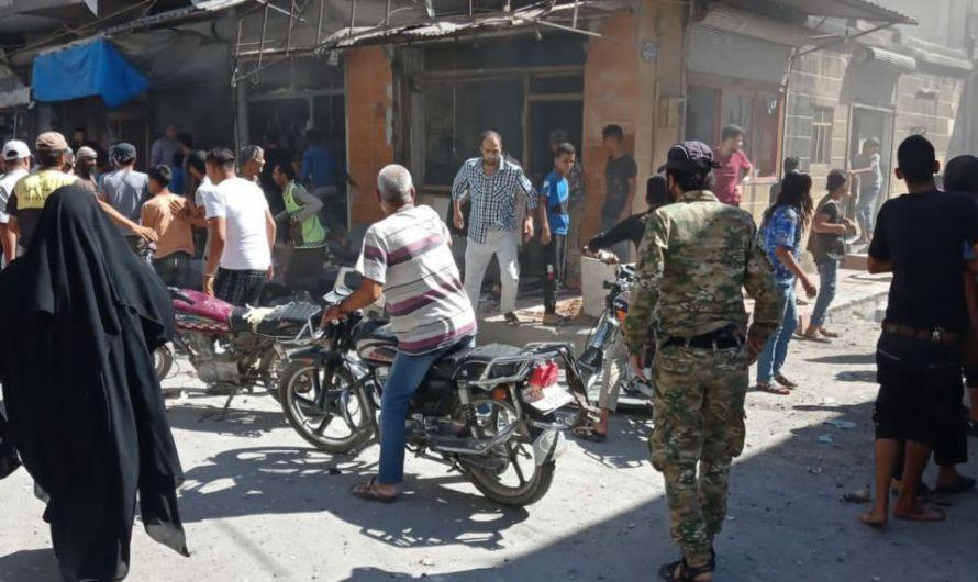 مقتل شخص وإصابات في انفجار دراجة نارية مفخخة في مدينة جرابلس في ريف حلب الشرقي