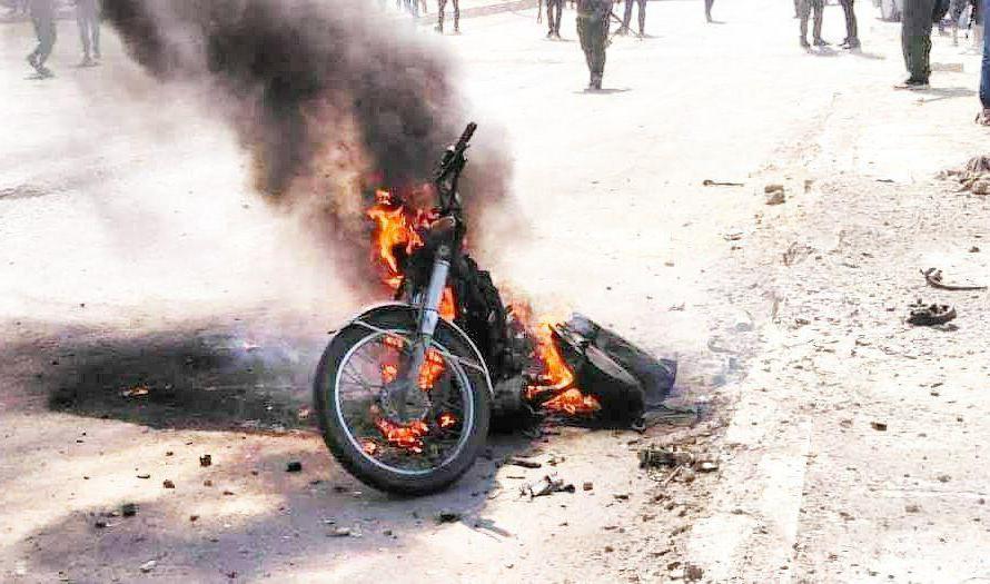 انفجار دراجة نارية مفخخة في بلدة تل حلف برأس العين