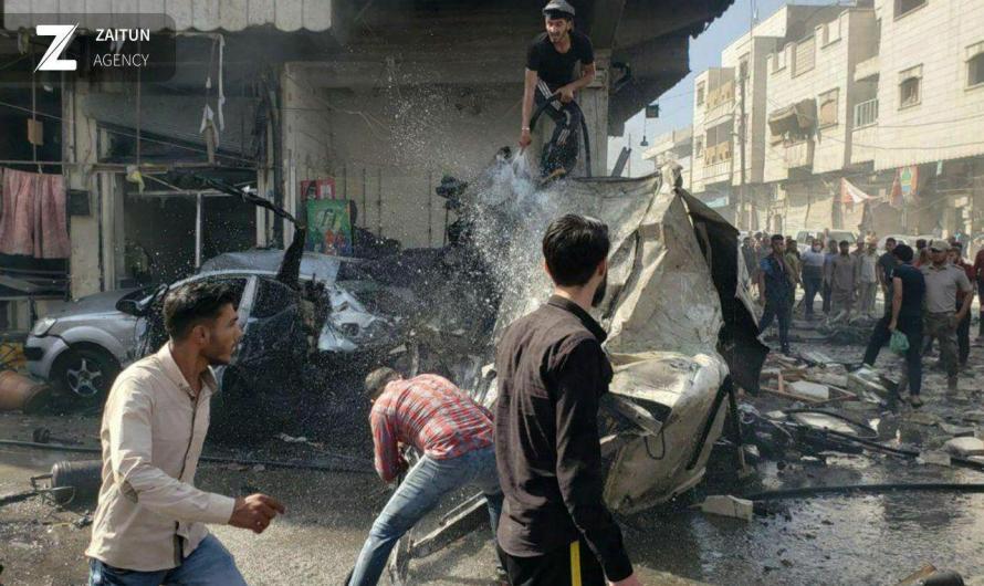 فشل تركي في حماية المدنيين.. مقتل 32 شخص وإصابة العشرات في انفجار سيارة مفخخة وسط مدينة الباب