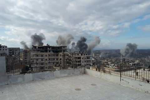 انهيار وقف التصعيد في إدلب … عشرات الغارات من قبل الطائرات الروسية، والمعارضة ترد بقصف مواقع الجيش السوري