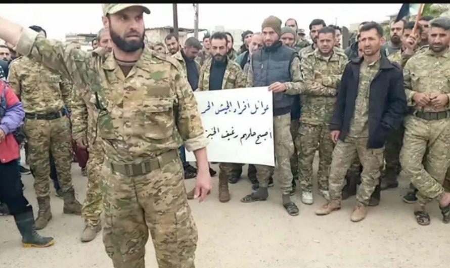 سرقوا رواتبنا…مرتزقة سوريين جندتهم تركيا للقتال في كاراباخ يتظاهرون في عفرين للمطالبة برواتبهم