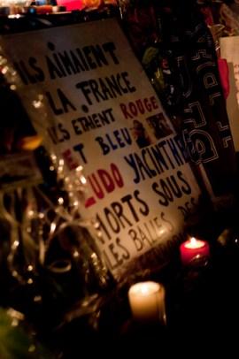 Paris, place de la République, novembre 2015 © Virginie de Galzain