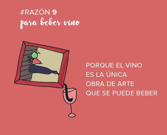 razones beber vino