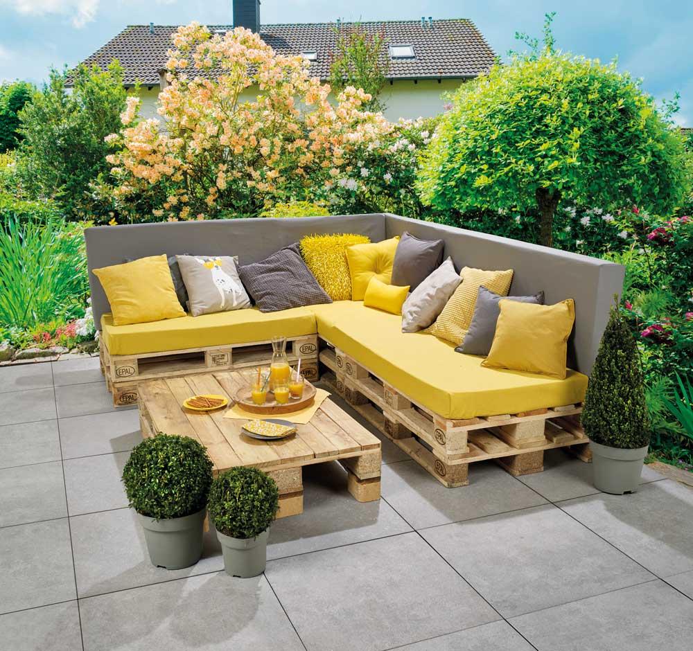 Banc Lounge Et Table En Palettes Pour Les Makers