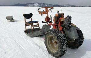 Homemade snowmobile gamit ang kanilang sariling mga engine na may motoblock: video, larawan