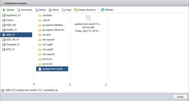How to upgrade ESXi 6 7U1 to 6 7U2 via esxcli – vDrone