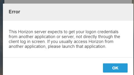 VMware Identity Manager and Horizon 7 * SAML expects