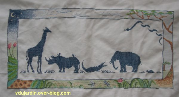Broderie Sur Le Thme De La Jungle Le Blog De Vronique D