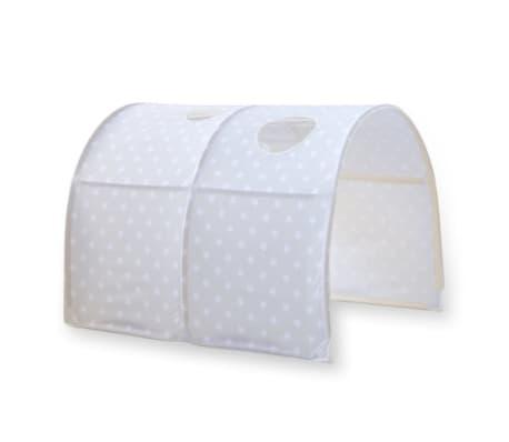 tunnel pour lit enfant superpose tente accessoires gris avec etoile 90