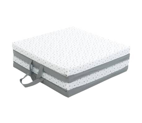 candide tapis de jeu pliant pour bebe 3 en 1 gris et blanc