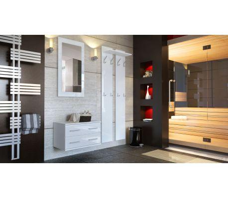 meubles d entree design en blanc laquee