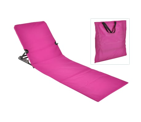 hi chaise tapis de plage pliable pvc rose