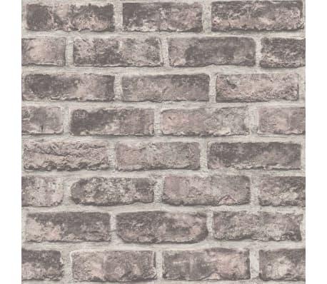 dutch wallcoverings papier peint briques marron