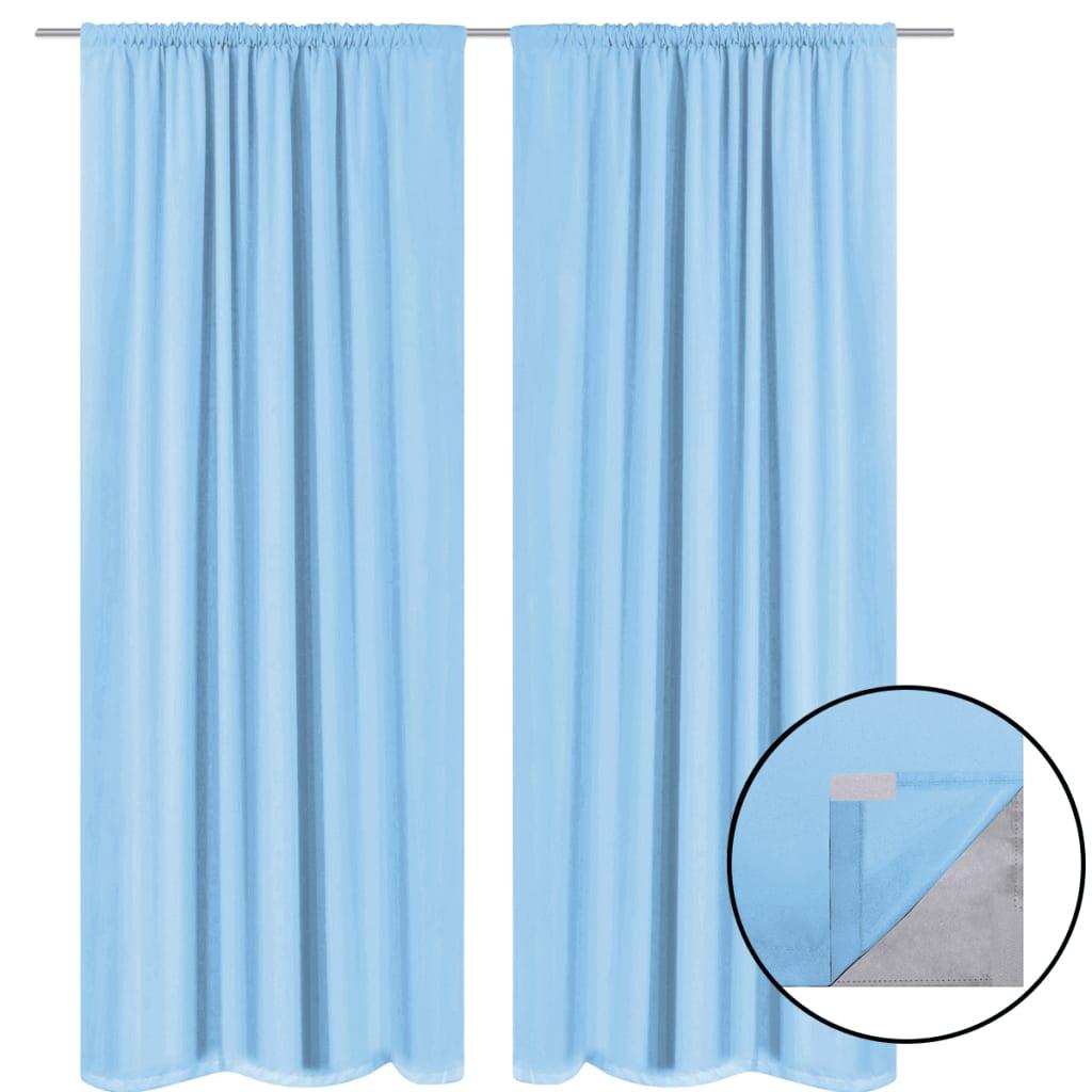 double rideau bleu turquoise