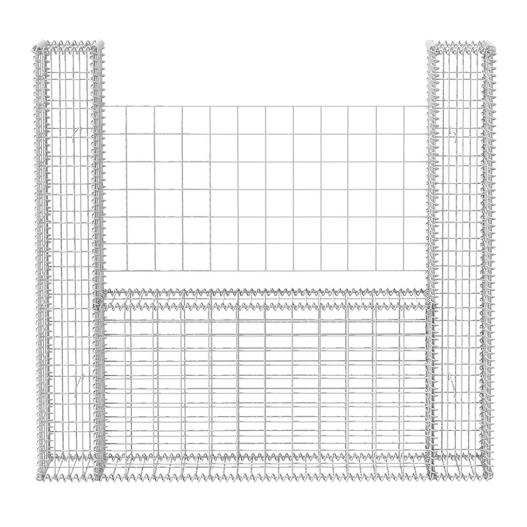 Gabion Basket U Shape Steel Garden Screen Fence Panel Barrier Stone Cage 3 Sizes