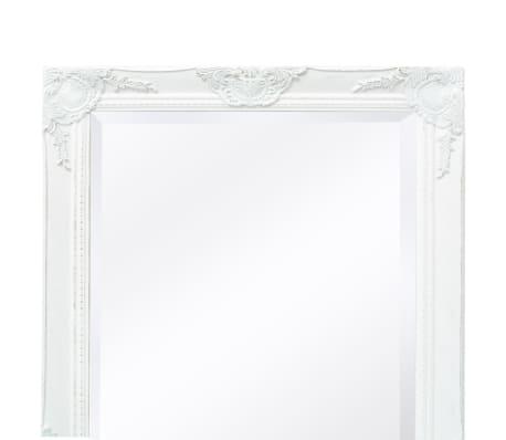 vidaxl miroir mural style baroque 120 x 60 cm blanc