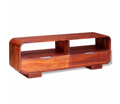 vidaxl meuble tv bois massif de sesahm 116 x 30 x 40 cm