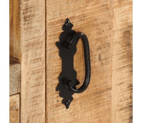 vidaxl meuble tv bois de manguier brut 120 x 30 x 50 cm