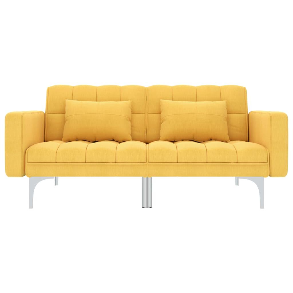 canape lit canape d angle banquette clic clac contemporain jaune tissu