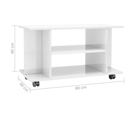 details sur vidaxl meuble tv avec roulettes agglomere salon armoire basse multicolore