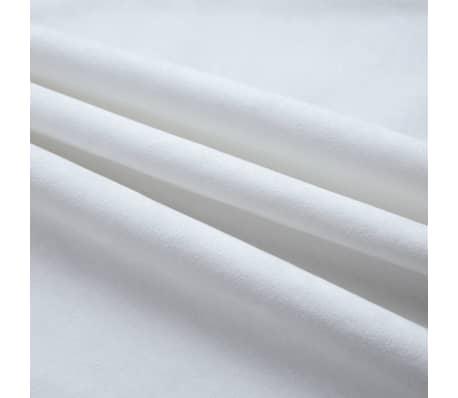 details sur vidaxl 2x rideaux occultants avec anneaux en metal blanc casse 140x225 cm