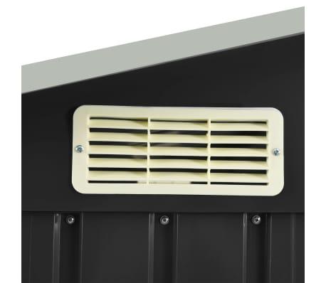 details sur vidaxl abri de jardin avec etagere anthracite fer cabine de stockage rangement