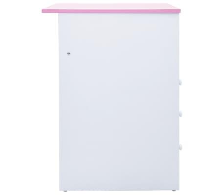 vidaxl bureau pour enfants inclinable rose et blanc