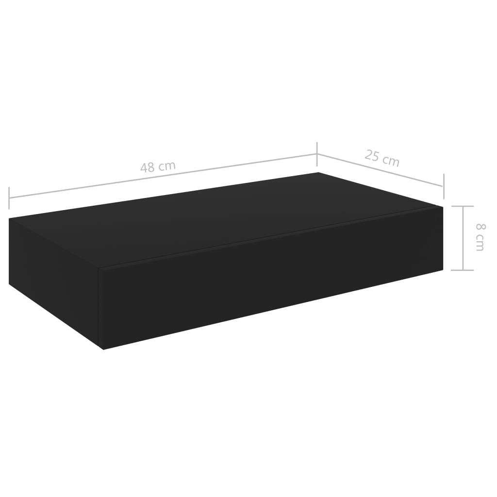 details sur vidaxl etagere murale flottante avec tiroir suspendue meuble rangement livres