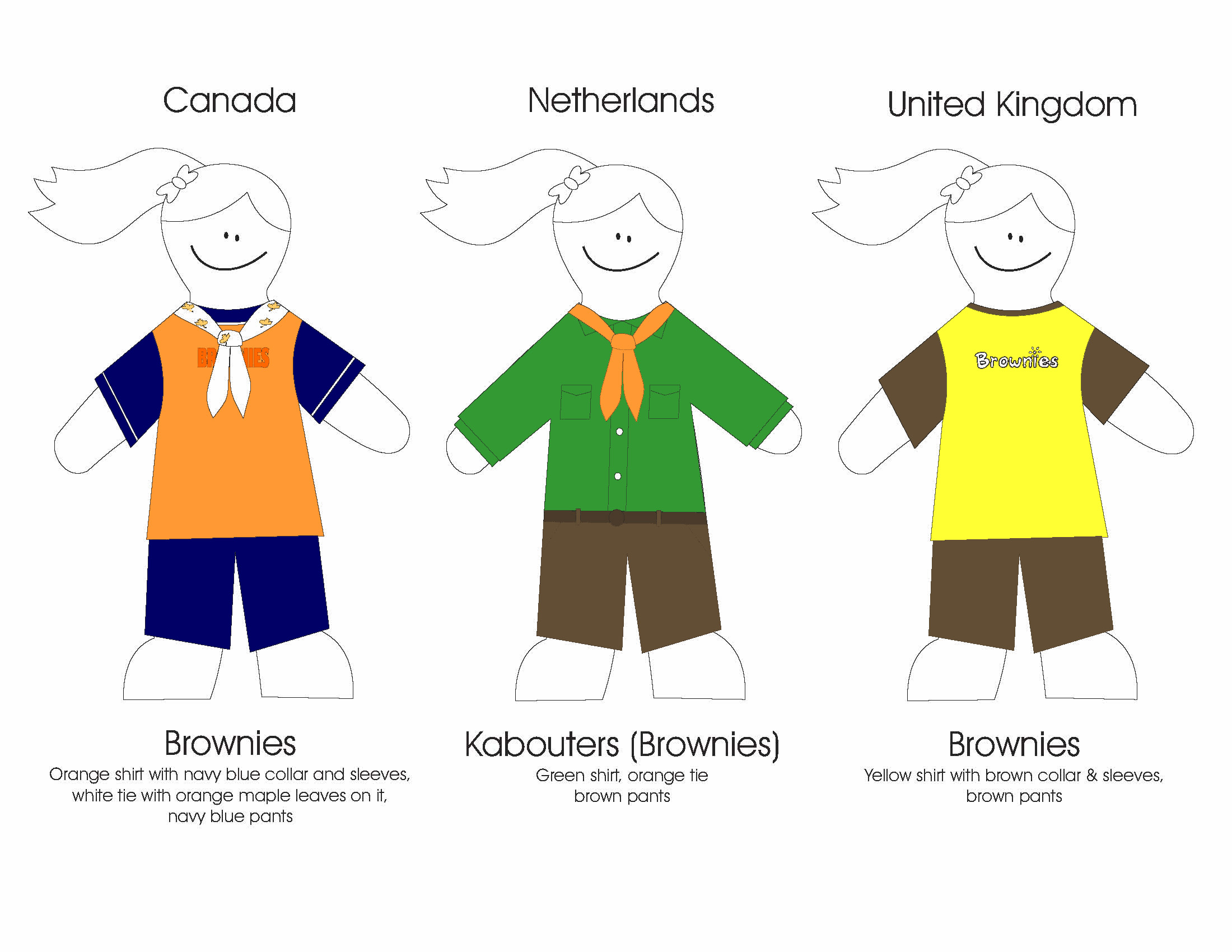 brownie uniform coloring moreover moreover free download printable