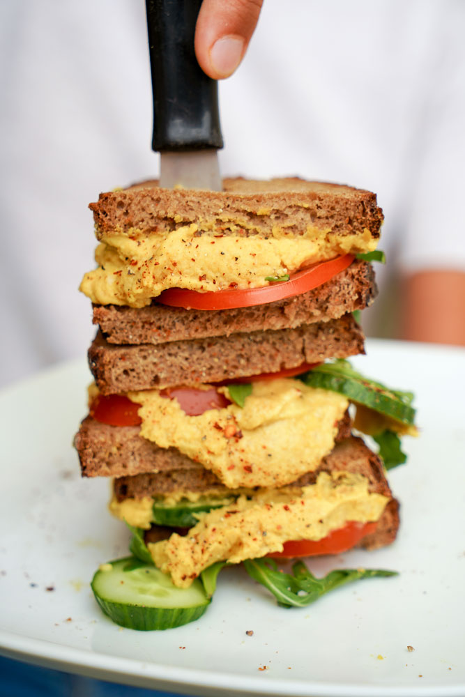 Vegan Turmeric Chickpea Salad Sandwich