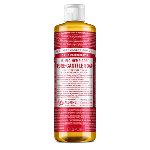 ROSE SCENTED - săpun lichid - Dr. Bronner's 475