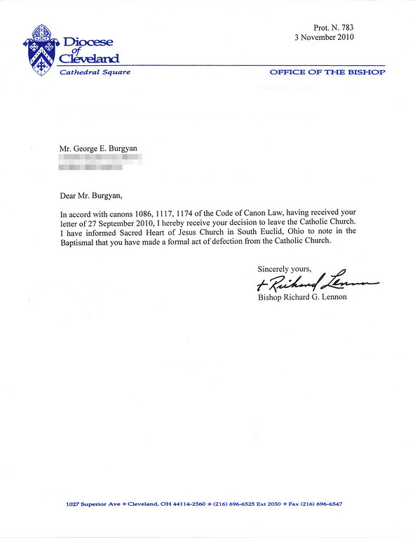 Response from the Diocese