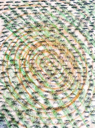 Exercice hebdomadaire #001 : motif craie grasse